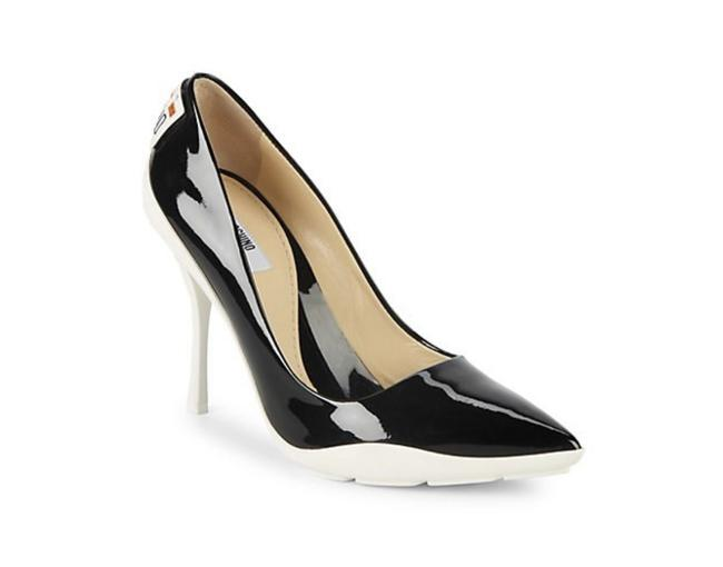 Item - Black and White Patent Leather License Plate In Pumps Size US 10 Narrow (Aa, N)