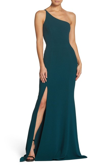 Item - Pine Amy One Shoulder Slit Crepe Gown Long Formal Dress Size 16 (XL, Plus 0x)