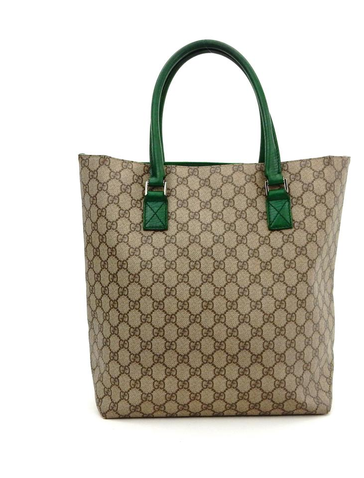 71980df63d8a Gucci Vintage Carry All Brown Supreme Gg Monogram Canvas Leather ...