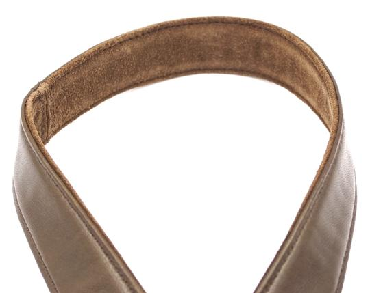 Chanel CC bronze turnlock logo buckle suede leather Belt size 65 26 Image 4