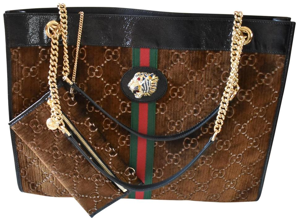 d63eed6b6 Gucci Rajah Large with Tiger & Pouch Tote - Tradesy