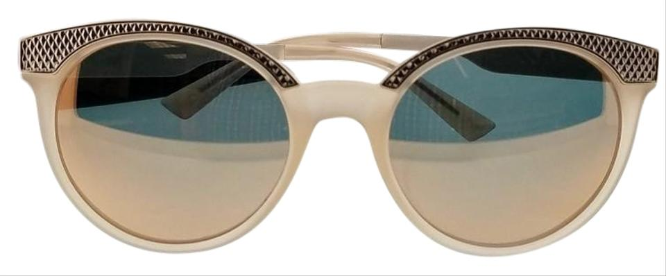 bc85bac1b5ece Versace Ve4330-52074z-53 Round Women s Opal Powder Frame Grey Lens  Sunglasses. Item    25131257