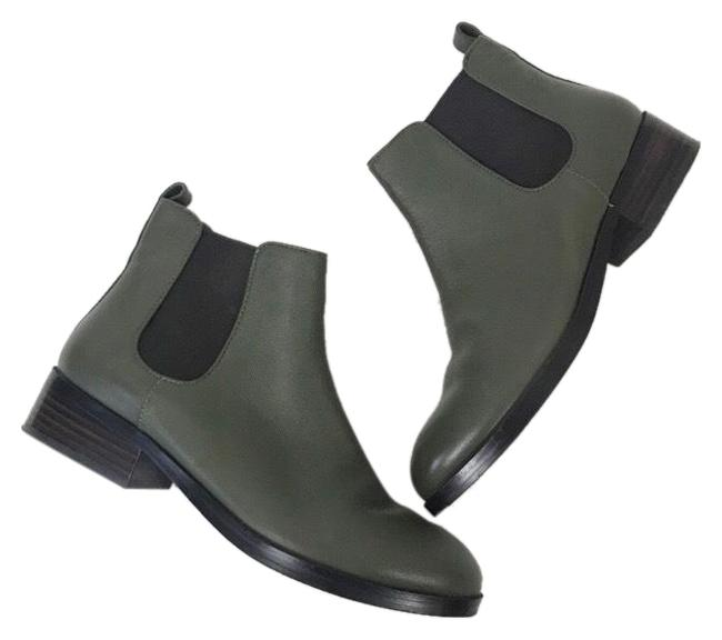 Item - Green/Brown Leather Chelsea Boots/Booties Size US 7 Regular (M, B)
