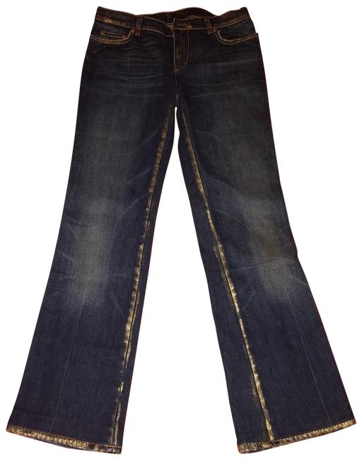 Item - Dark Blue Gold Rinse Straight Leg Jeans Size 10 (M, 31)