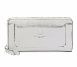e1a70f1f16 Marc Jacobs Grey Standard Continental Leather Wallet - Tradesy