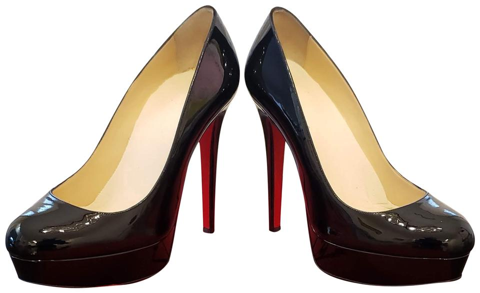first rate 1c483 2e802 Christian Louboutin Black Bianca Patent Leather Platforms Size EU 37.5  (Approx. US 7.5) Regular (M, B)