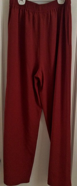 Jerry Giardelli Wide Leg Pants Red Image 1