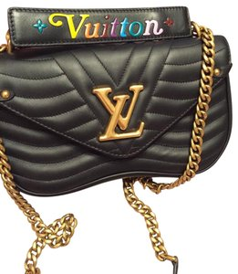 1288a3a23d96 Louis Vuitton Shoulder Bag · Louis Vuitton. Mm New Wave Black Smooth Calf  Leather ...