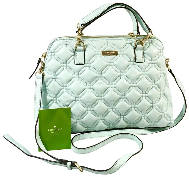 Item - Rochelle Small Astor Court Quilted Soft Graceblue Leather Satchel