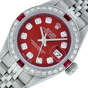Rolex Ladies Datejust Ss/White Gold with Diamond Dial Watch