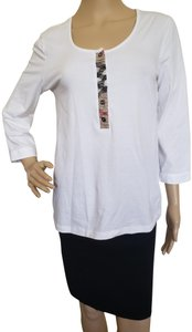 Burberry Longsleeve Plaid Metallic Nova Check House Check Top White