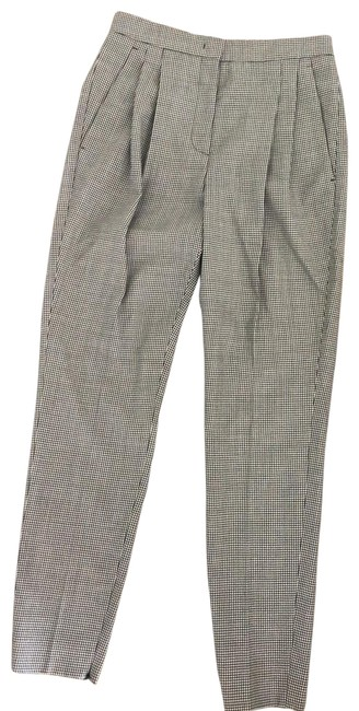 Item - Black and White Tapered Wool Pants Size 4 (S, 27)