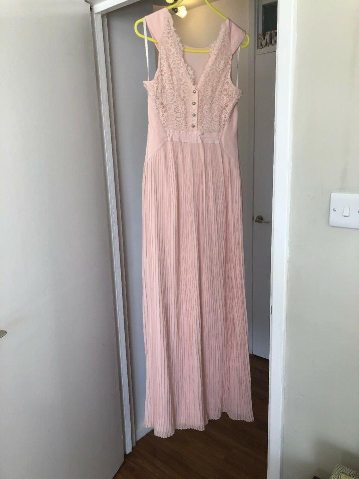 972ef5395 Ted Baker Light Pink Reversible Gown Euc Long Cocktail Dress Size 6 (S) -  Tradesy