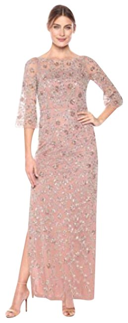 Item - Rose Gold By Women's Sleeve Beaded Gown Long Formal Dress Size 6 (S)
