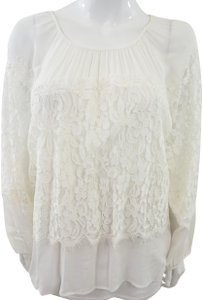 XCVI Lace Top White