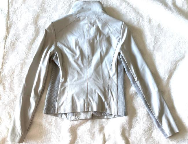Vince grey Leather Jacket Image 5