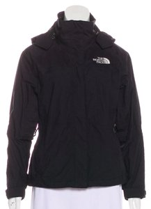 The North Face Rain Zip-up Hooded Black Jacket
