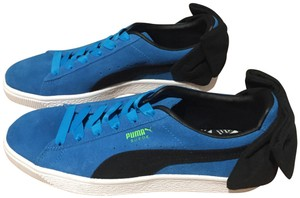 Puma Bow Suede Blue Black Athletic