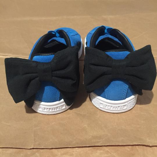 Puma Bow Suede Blue Black Athletic Image 1