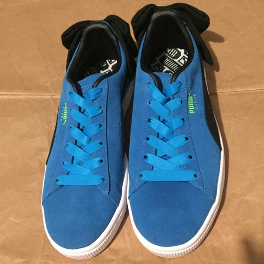 Puma Bow Suede Blue Black Athletic Image 2