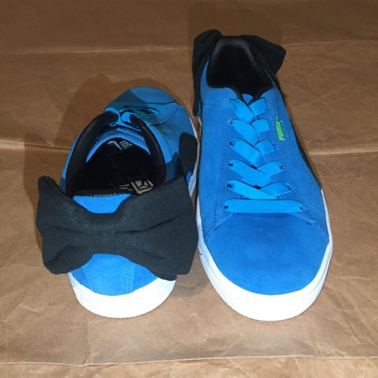 Puma Bow Suede Blue Black Athletic Image 3