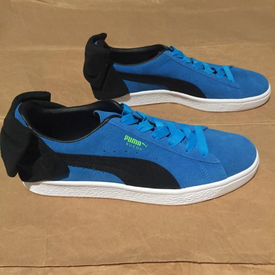 Puma Bow Suede Blue Black Athletic Image 4