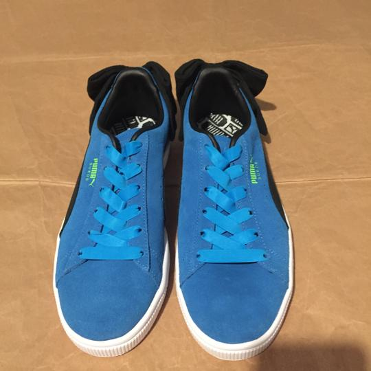 Puma Bow Suede Blue Black Athletic Image 5