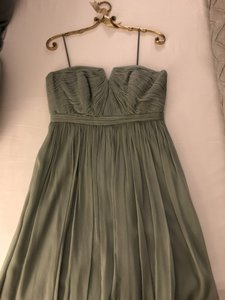 J.Crew Dusty Shale Silk Chiffon Nadia Feminine Bridesmaid/Mob Dress Size 8 (M)