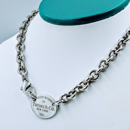 Tiffany & Co. Please Return Oval Tag Choker Necklace Sterling Silver Image 1