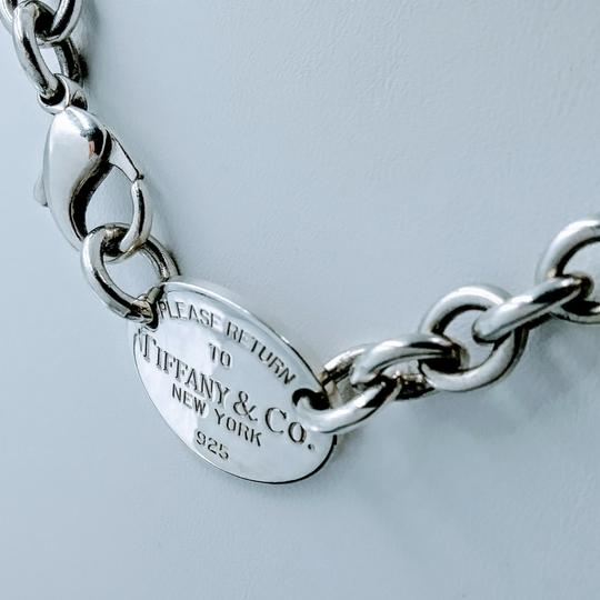 Tiffany & Co. Please Return Oval Tag Choker Necklace Sterling Silver Image 2