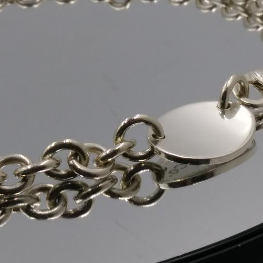 Tiffany & Co. Please Return Oval Tag Choker Necklace Sterling Silver Image 3
