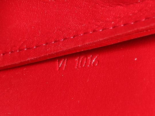 ed66681cd0e9 Louis Vuitton Lv Monogram Embossed Lv.q0218.07 Gold Hardware Red Clutch  Image 8
