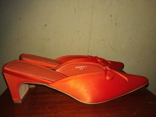 yme self Red Mules Image 2