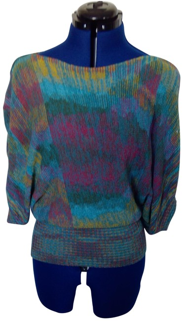 Preload https://img-static.tradesy.com/item/25133316/forever-21-multi-color-aqua-teal-yellow-pink-women-s-winged-tops-blouse-size-8-m-0-1-650-650.jpg