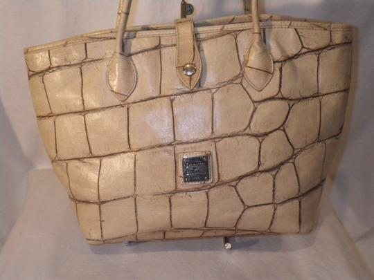 Dooney & Bourke And Crocodile Leather Tote in Yellow Image 1