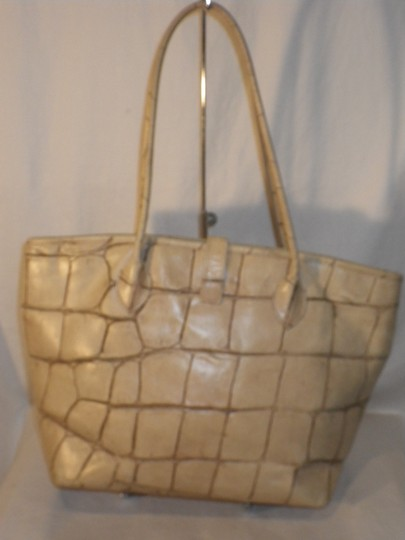 Dooney & Bourke And Crocodile Leather Tote in Yellow Image 3