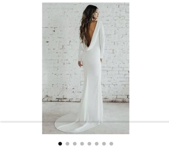 Preload https://img-static.tradesy.com/item/25133549/katie-may-ivory-crepe-jean-and-noel-wasson-cowl-back-gown-street-label-modern-wedding-dress-size-16-0-0-540-540.jpg