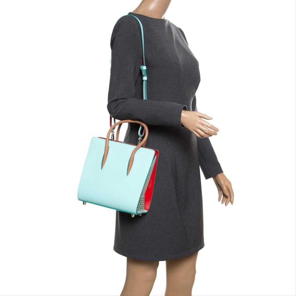b87414a7368 Christian Louboutin Top Handle Small Paloma Multicolor Leather Shoulder Bag  46% off retail