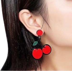 Urban Outfitters Cherry resin dangle