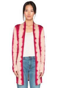 Johnny Was Open Front Super Luxe Fabric Silk Wool + Cashmere Longline Collarless Cardigan