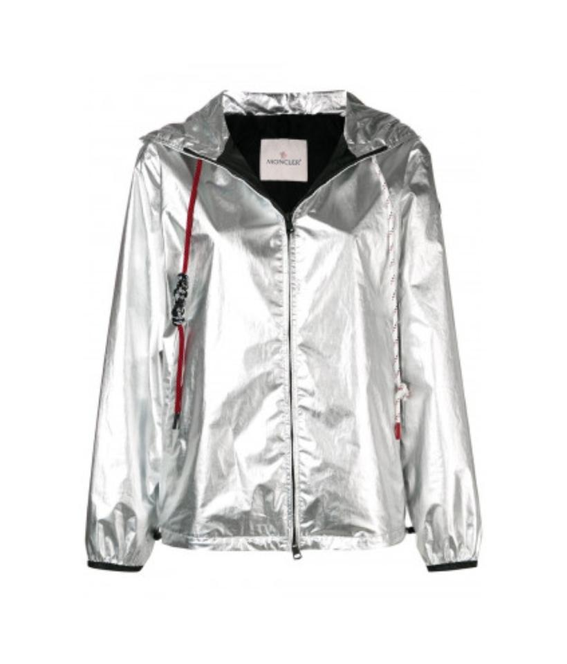 a9b97793b Moncler Silver New Mikael Jacket Us Coat Size 4 (S)