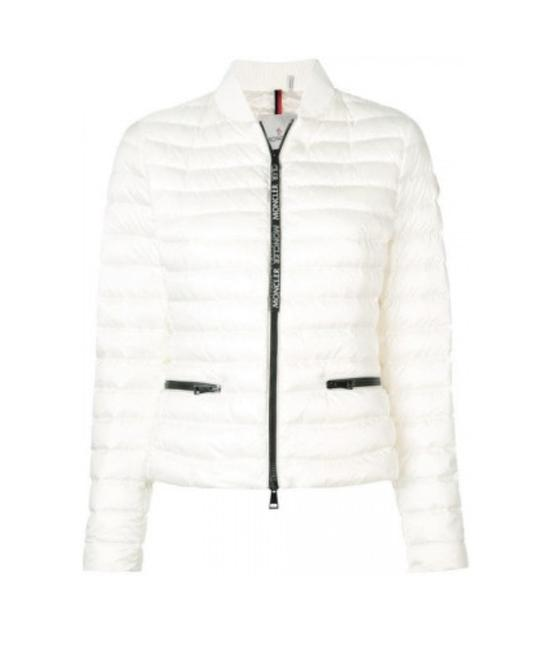 Moncler White New Down Quilted Blenca Biker Jacket Us Coat ...