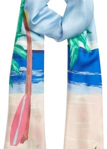 Kate Spade Beach Scene Oblong Silk Scarf