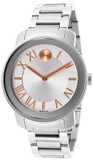 Movado Bold Stainless Steel Roman Numeral Dial 3600196 Watch Image 2