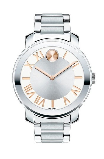 Movado Bold Stainless Steel Roman Numeral Dial 3600196 Watch Image 3