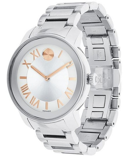 Movado Bold Stainless Steel Roman Numeral Dial 3600196 Watch Image 7