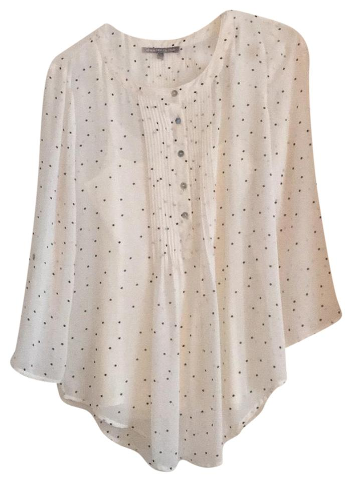 e2df5169007a1d Daniel Rainn Off White / Black Dots Blouse Size 4 (S) - Tradesy