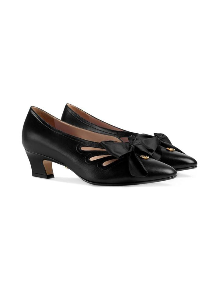 53789d43a0 Gucci Bow Gg Leather Pumps Size EU 38.5 (Approx. US 8.5) Regular (M ...