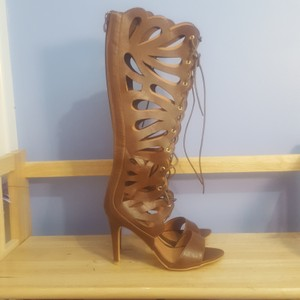 a82b0ce84e Forever Cutout Lace Up Sandal Gladiator Brown Boots