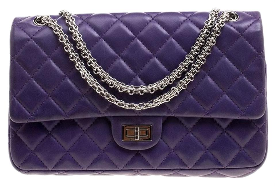 66764de573db8a Chanel Classic Flap 2.55 Reissue Quilted Reissue Classic 226 Purple ...